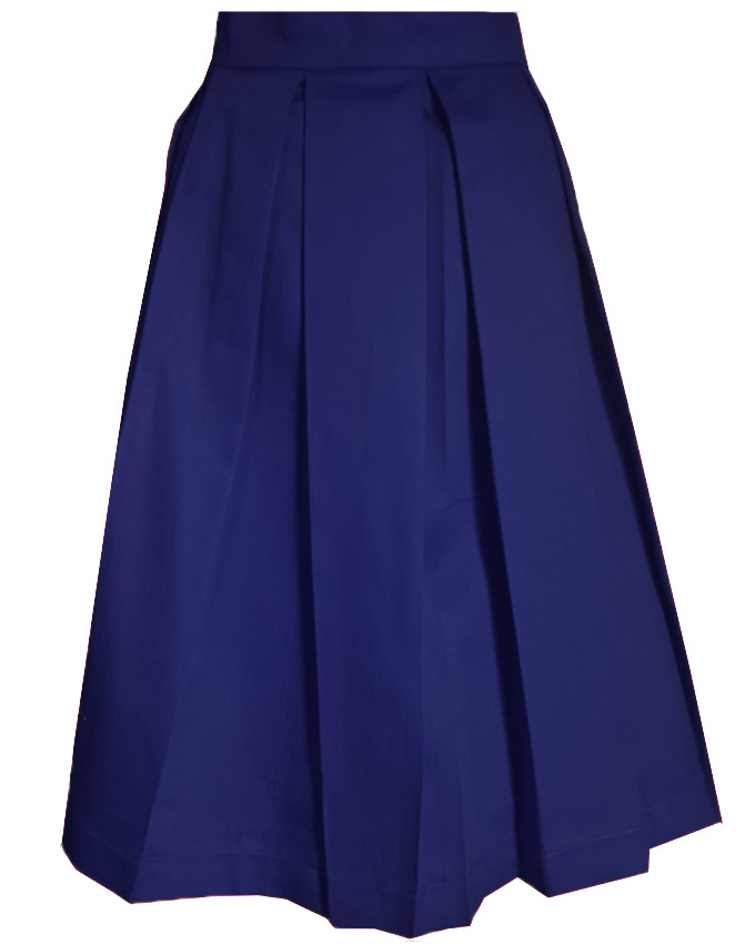 regan skater skirt royal blue dmgclothing