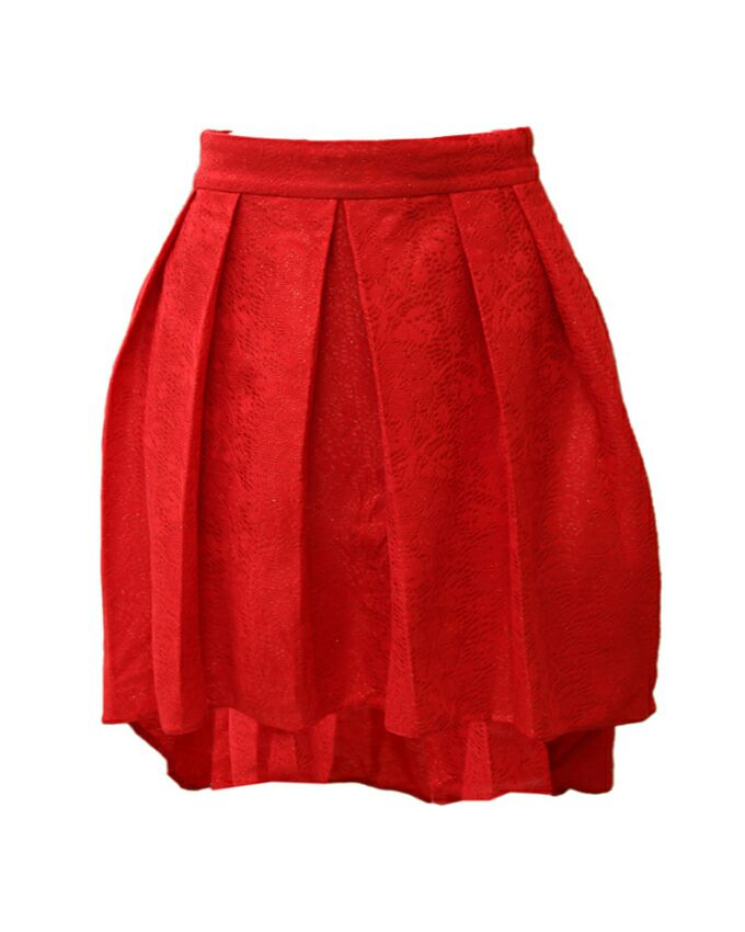 DMG Alma Lace Flared Skirt- Red - dmgclothing